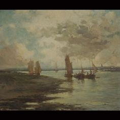 Ships in San Francisco Bay by John Aloysius Stanton (my great grandfather)