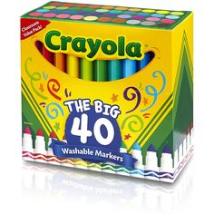 Crayola 58-7858 Ultra-Clean Washable Broad Line Markers, 40-Count         ** For more information, visit image link. (This is an affiliate link) #ToysGames