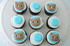 Teddy Bear Baby Shower Mini Cupcakes by creativecupcakes, via Flickr