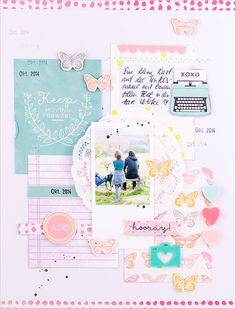 "#papercraft #scrapbook #layout - mojosanti ♥ Sandra Dietrich: ""¡Hurra '{} scrapbooking diseño con el Februarkit 2015 Scrapbook Taller I Nuevo diseño' hurra '"