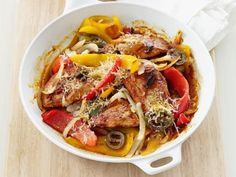 Get Skillet Pork and Peppers Recipe from Food Network