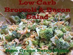 Low Carb Broccoli & Bacon Salad #recipe #lowcarb