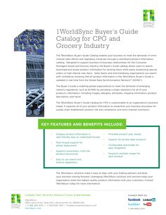 Buyer's Guide Catalog for CPG and Grocery Industry by 1WorldSync via slideshare