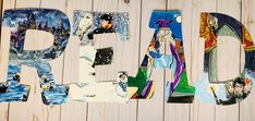 Harry Potter Sign, Harry Potter Classroom, Harry Potter Characters, Letter Set, Letter Wall, Read Letters, Painting Wooden Letters, Character Letters, Alphabet Wall