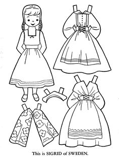 Swedish Flag Coloring Page Luxury Children Of the World Paper Dolls Free Flag Coloring Pages, Coloring Pages For Kids, Coloring Sheets, Printable Coloring Pages, Swedish Flag, Swedish Girls, Paper Doll Template, Paper Dolls Printable, Paper Toys
