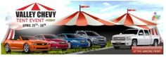 Purchase or lease any new car, truck or SUV at the Valley Chevy Tent Event and get your choice of Two Arizona Cardinals Season Tickets with Parking Pass OR a Samsung Galaxy® Tablet for just $1.