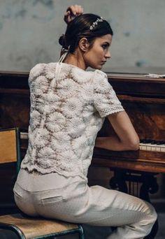 Wedding Dress 2016 // Laure de Sagazan Collection 2016 // Pants and Top // Wedding Dress Details // #weddingdress #bride