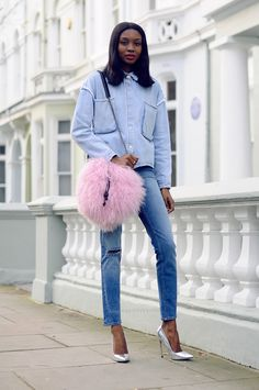 #StreetStyle total #denim