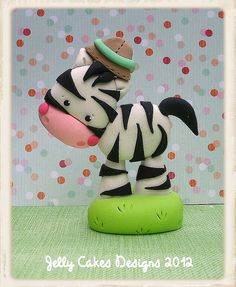 Jungle Safari Zebra topper by Jelly Cakes, via Flickr