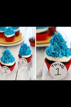 Thing #1 Thing #2 cupcakes