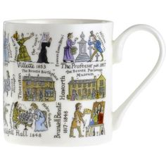 Brontës Timeline Mug - The Literary Gift Company Bronte Sisters, Literary Gifts, Gifts For Readers, Writers And Poets, China Mugs, Penguin Books, Bone China, Timeline, Book Worms