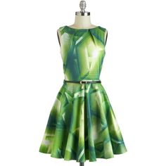 Luck Be a Lady Dress in Green Prisms ($75) ❤ liked on Polyvore