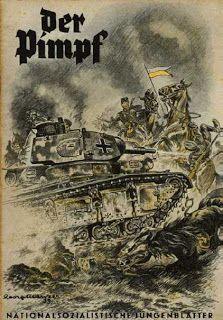 German  WW2   Polish cavalry charge being rebuffed by German tank
