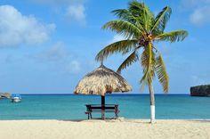 het strand bij Sta Cruz @ Curacao