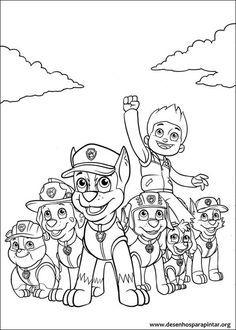 Paw Patrol Coloring Picture More