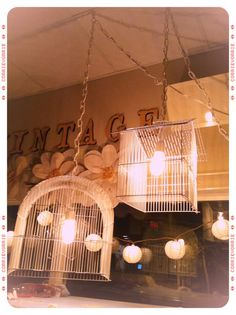 Georgie Emerson Vintage - bird cage lights