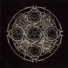 Demonic sigils from Goetia in circle