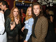 Pin for Later: It Was a Family Affair For the Delevingnes at the Love and Miu Miu Party Cara Delevingne, Clara Paget, and Harry Styles