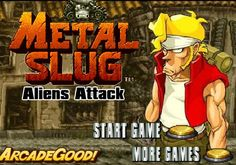 Metal Slug Aliens Attack. Aliens are attacking the city. Help Marco defend all the incoming aliens.