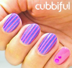 Nailpolis Museum of Nail Art | Cinderella's Daily Show: Stripes to Pet  by Cubbiful