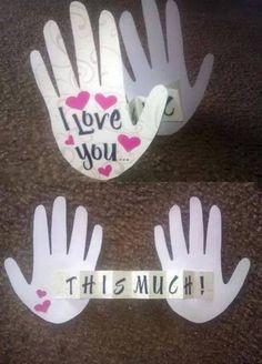 Birthday surprise ideas for mom diy valentines day 51 ideas Valentine Day Crafts, Be My Valentine, Holiday Crafts, Love Gifts, Gifts For Dad, Diy Gifts, Valentine's Day Diy, Diy Birthday, Boyfriend Gifts