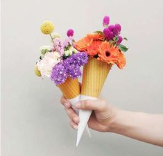 This is what my bridesmaids will carry :) because my heps took me for ice cream on our first dates :) xxxxx