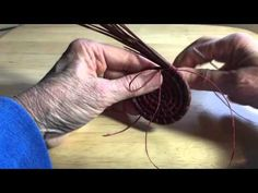 Pine Needle Coiling - adding threads - YouTube