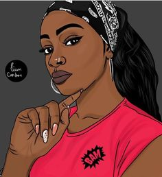Sexy Black Art, Black Love Art, Black Girl Art, My Black Is Beautiful, Black Girl Magic, Black Girl Cartoon, Dope Cartoon Art, Drawings Of Black Girls, Arte Black
