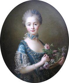 François-Hubert Drouais (1727-1775) — Portrait of  Lady Amelia Darcy, 9th Baroness Conyers :  Bowes Museum,  Barnard Castle, Teesdale, County Durham.  England  (848×1024)