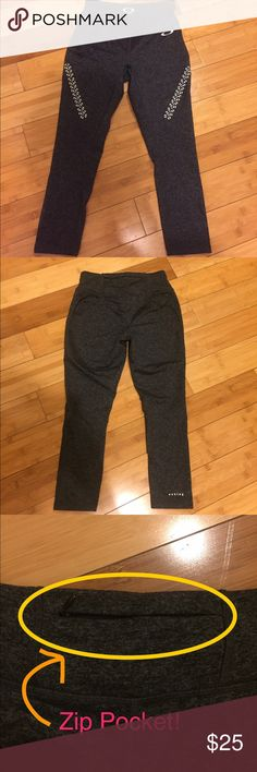 "NWOT Cropped Oakley activewear leggings - XS NWOT Cropped Oakley activewear leggings, size Small. Dark heathered grey. Hidden zip pocket in back (shown). Inseam is 21"". Never worn. Oakley Pants Track Pants & Joggers"