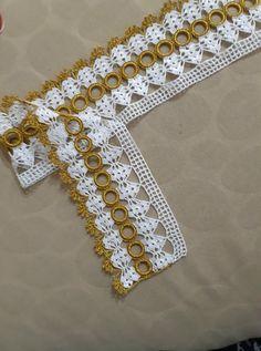Newest Towel Edge Crochet Needlework Models Crochet Boarders, Crochet Edging Patterns, Crochet Lace Edging, Crochet Art, Filet Crochet, Baby Knitting Patterns, Easy Crochet Stitches, Knit Cardigan Pattern, Towel Crafts