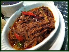Ropa Vieja (Cuban Shredded Beef) : Old Havana Foods, Frijoles Negros, Cuban Black Beans and Rice Mexican Food Recipes, Beef Recipes, Cooking Recipes, Ethnic Recipes, Slow Cooking, Chicken Recipes, Latin American Food, Latin Food, Cuban Dishes