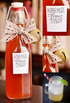 Homemade Tonic Syrup | 24 Delicious Food Gifts That Will Make Everyone Love You