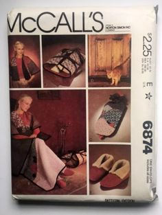 McCall's 6874 Sewing Pattern Draft Stopper Log Carrier Quilt Jacket Crafts New Uncut Vintage