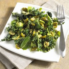Kale and California Green Ripe Olive Salad
