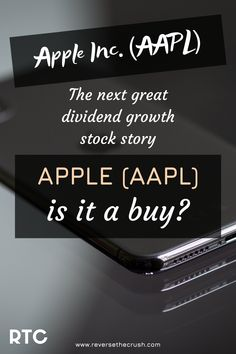 An analysis of Apple Inc. (Ticker: AAPL) after recent earnings and dividend raise. AAPL is the next great dividend growth stock story Investing Money, Saving Money, Stock Analysis, Dividend Investing, Dividend Stocks, Wealth Creation, Early Retirement, Make Money Fast, Finance Tips