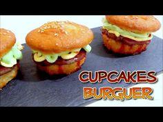 Receta facil: cupcakes en forma de hamburguesa rellenos de nutella sin h...