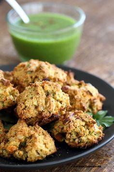 Broccoli, Cauliflower, potatoes, carrots and greens in this Mixed Vegetable Pakora. Baked Veggie Pakore Bhajjiya. #Vegan #Soyfree #Recipe. Easily #Glutenfree   VeganRicha.com