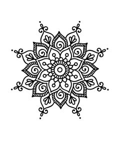 Henna drawings, art drawings, mandala design, mandala dots, zentangle p Mandala Doodle, Easy Mandala Drawing, Mandala Art Lesson, Mandalas Drawing, Mandala Dots, Mandala Coloring Pages, Flower Mandala, Simple Mandala Tattoo, Simple Coloring Pages