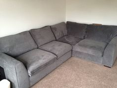 Left facing corner couch - DFS blanche - 5 months old - barely used - as new