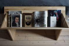 Martin Timells bokställ i limträ i Äntligen hemma.