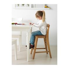 INGOLF Junior chair IKEA Gives the right seat height for the child at the dining table.