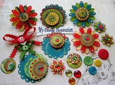 These colorful little 3D paper embellishments are ideal for your scrapbook pages, card making, mini albums, book and box decoration,