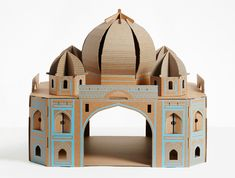 cardboard cat dwellings replicate architectural landmarks from around the world