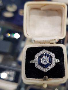Sapphire Rings, Sapphire Stone, Everlasting Love, Art Deco Period, Diamond Cuts, Original Art, Engagement Rings, Band, Casual