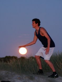 Optical Illusion Photography Sees Man Play Basketball With Moon