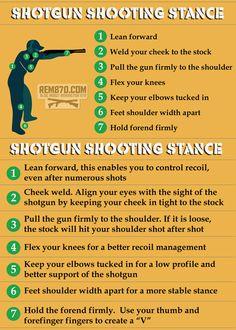 Shotgun Shooting Stance Survival Essentials, Survival Life Hacks, Survival Prepping, Survival Skills, Trap Shooting, Shooting Sports, Shooting Range, Weapons Guns, Guns And Ammo