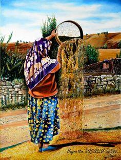 Hayrettin Sücüllü  Tuval üzerine yağlı boya 60x80 Anadolu Kadını