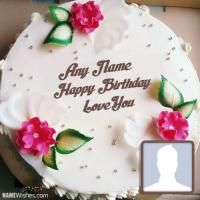 Birthday Cakes With Name And Photo