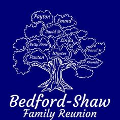 Reunion Tree design. Easy to add names to tree for a unique reunion t-shirt.  http://www.reuniontees.com/reunion_tees/Design/1725963/FR_4081_1725963 #reuniontees #ctp365 #family #reunion #t-shirts